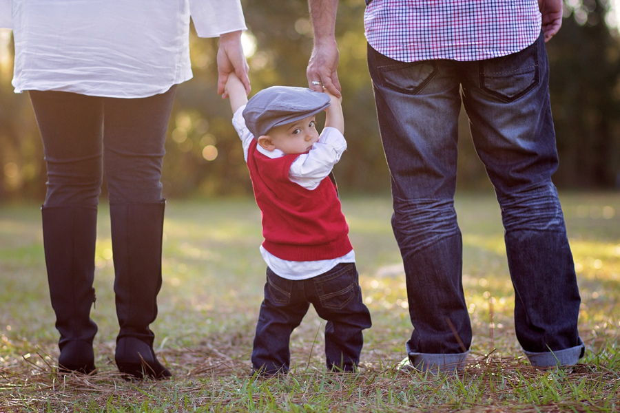 christmas photo session with toddler boy