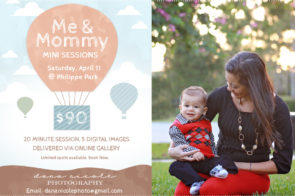 Mommy and Me session in Tampa at Philippe Park