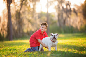 Child and Pet Photo Session at Lake Park in Tampa | Dana Nicole Photography | Tampa, FL